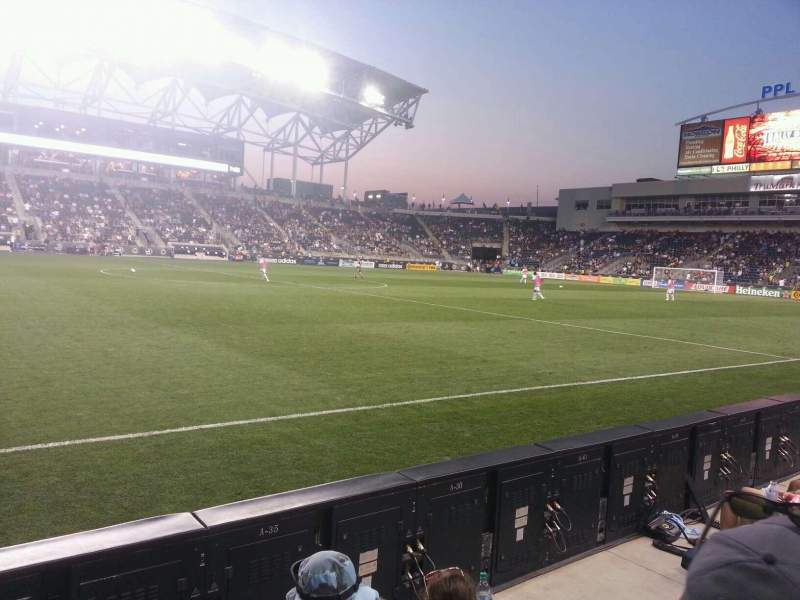 Seating view for Talen Energy Stadium Section 129 Row a Seat 1