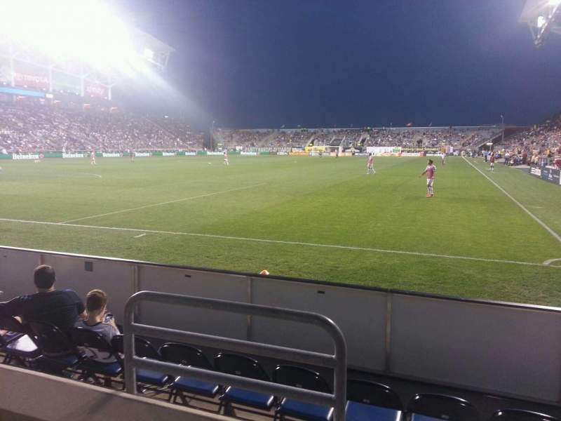 Seating view for Talen Energy Stadium Section 114 Row b Seat 10
