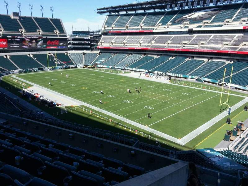 Seating view for Lincoln Financial Field Section c6 Row 11 Seat 8