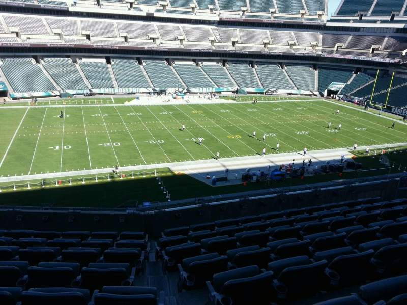 Seating view for Lincoln Financial Field Section c38 Row 13 Seat 10