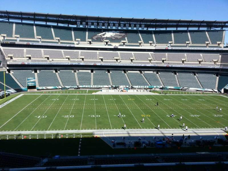 Seating view for Lincoln Financial Field Section c39 Row 11 Seat 10