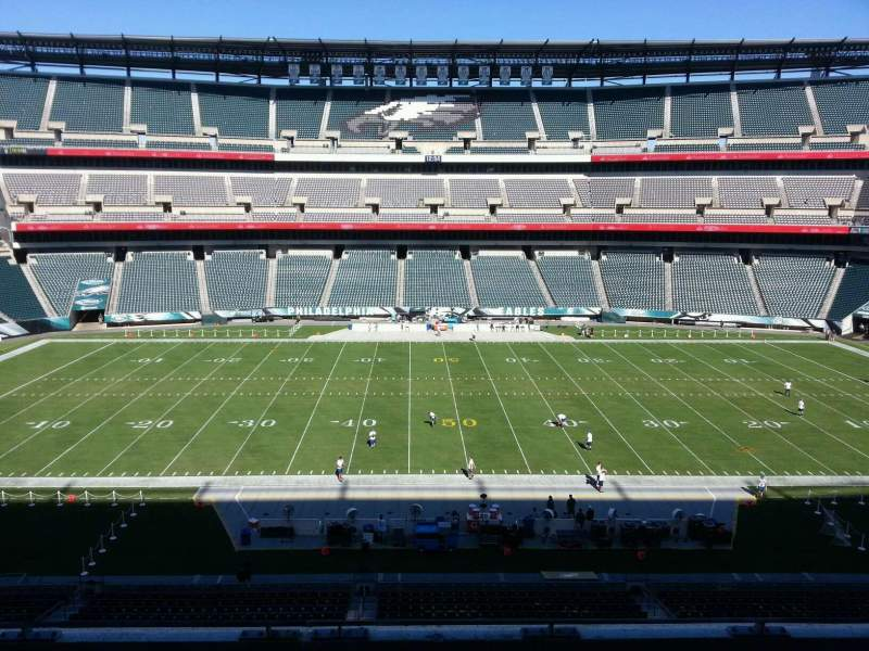 Seating view for Lincoln Financial Field Section c40 Row 9 Seat 5