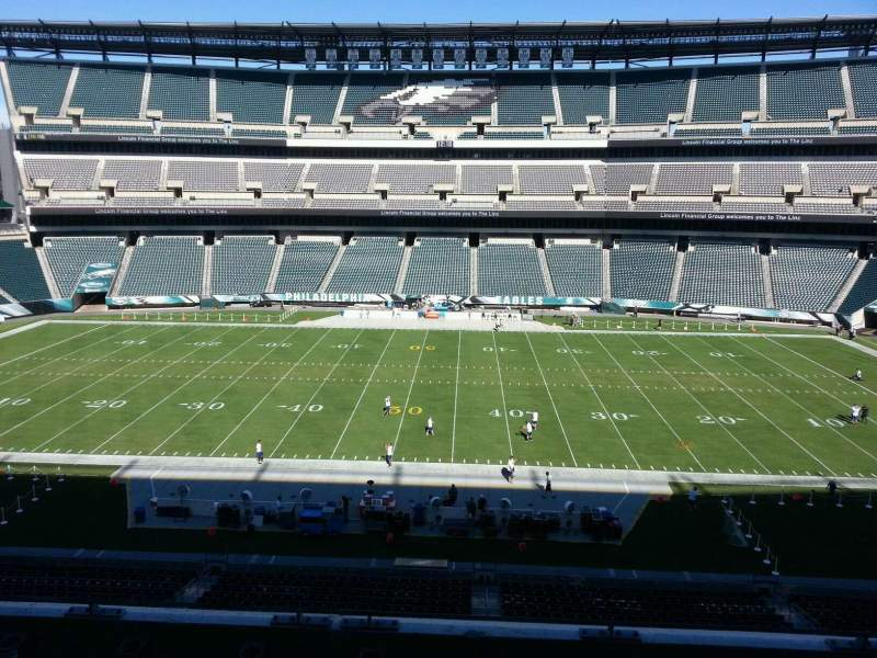 Seating view for Lincoln Financial Field Section c1 Row 9 Seat 10