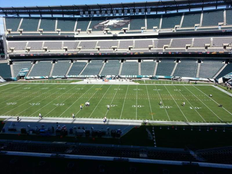 Seating view for Lincoln Financial Field Section c2 Row 9 Seat 10