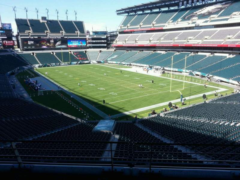 Seating view for Lincoln Financial Field Section sw t 1 Row 3 Seat 20