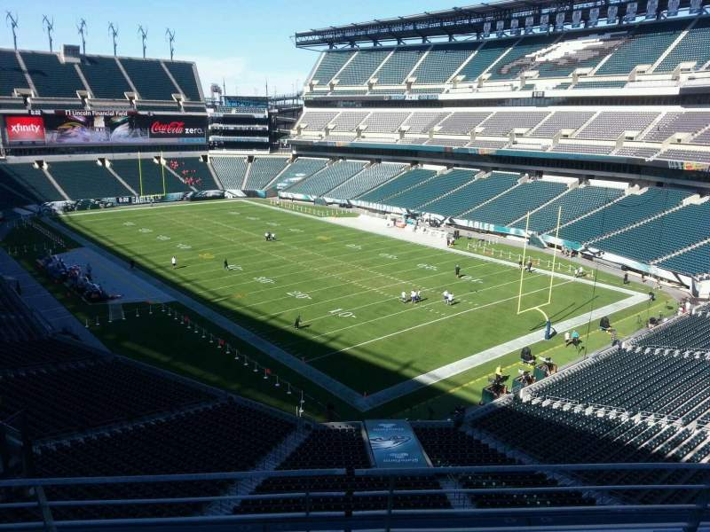 Seating view for Lincoln Financial Field Section m7 Row 15 Seat 4