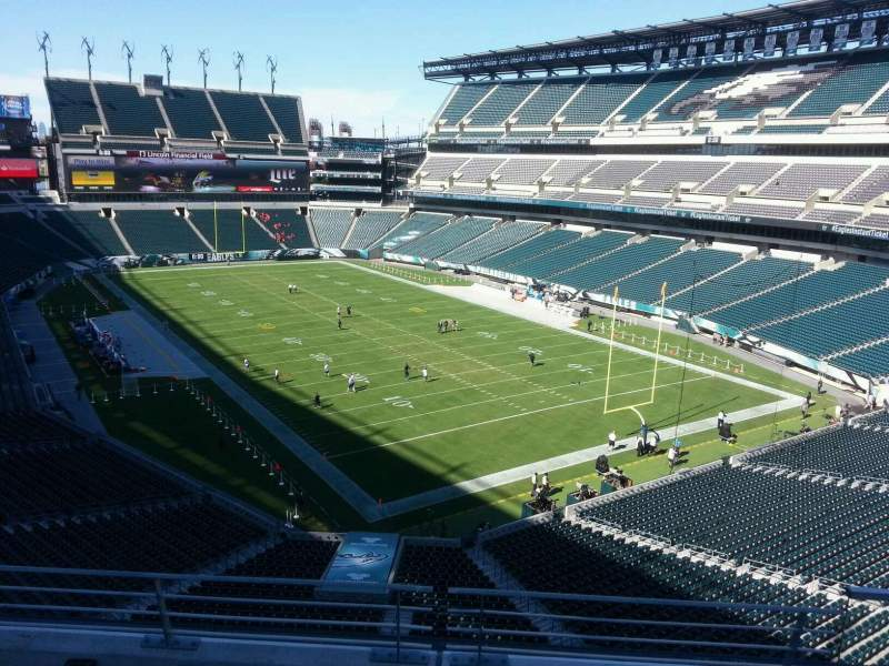 Seating view for Lincoln Financial Field Section m8 Row 16 Seat 7