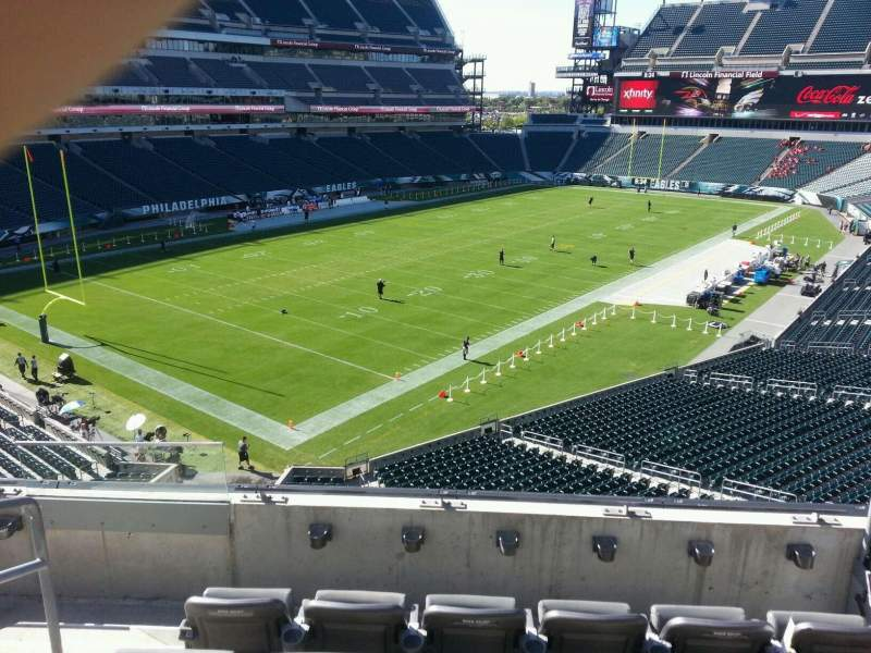 Seating view for Lincoln Financial Field Section c15 Row 5 Seat 13