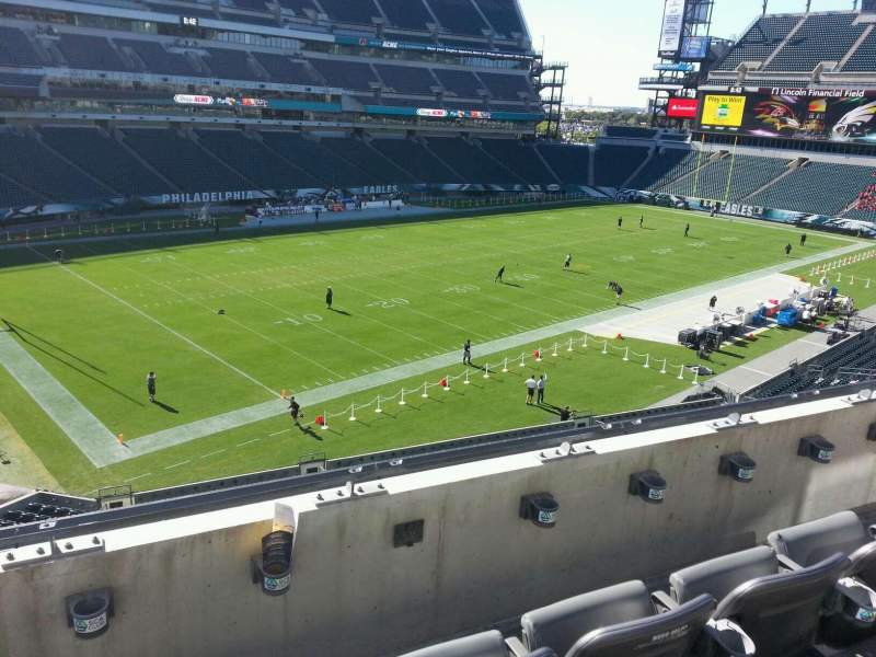 Seating view for Lincoln Financial Field Section c16 Row 3 Seat 4