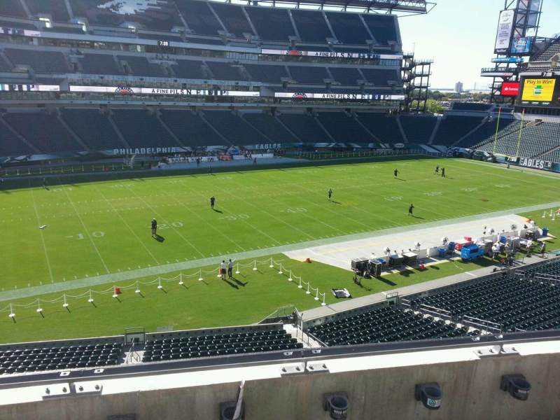 Seating view for Lincoln Financial Field Section c18 Row 3 Seat 12
