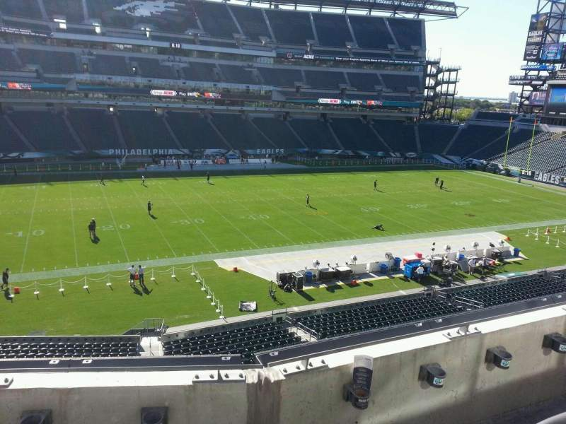 Seating view for Lincoln Financial Field Section c19 Row 3 Seat 9