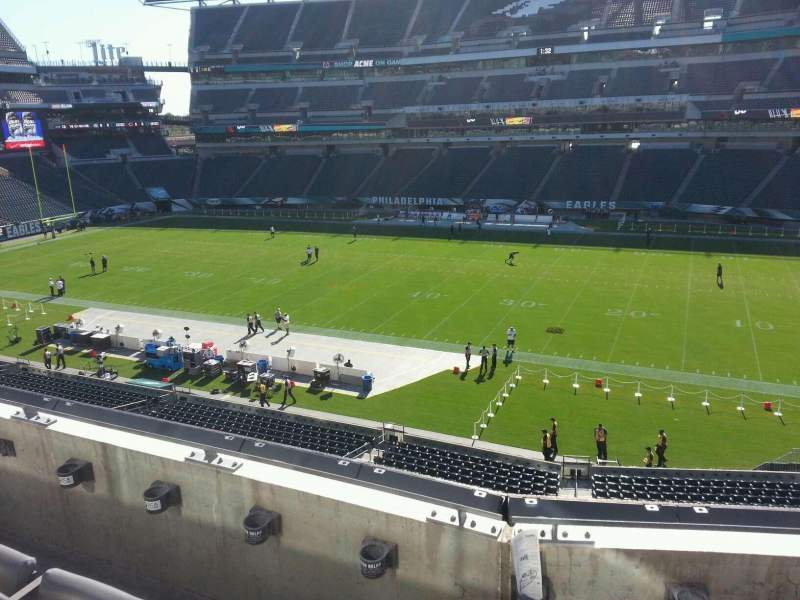 Seating view for Lincoln Financial Field Section c24 Row 3 Seat 8