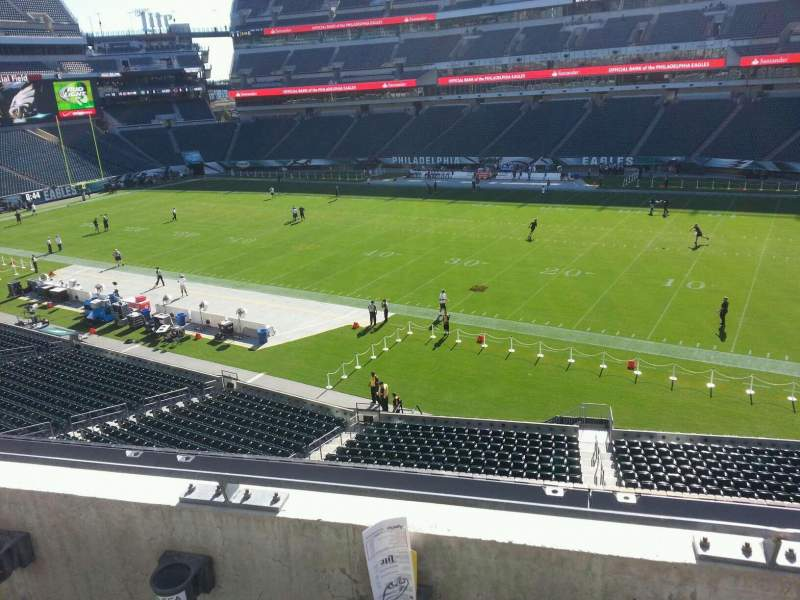 Seating view for Lincoln Financial Field Section c25 Row 2 Seat 12