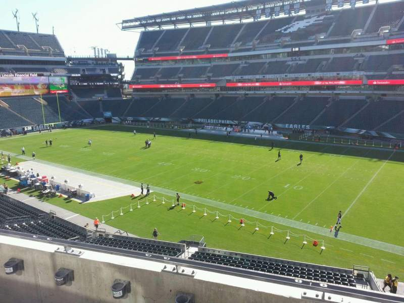 Seating view for Lincoln Financial Field Section c26 Row 3 Seat 13