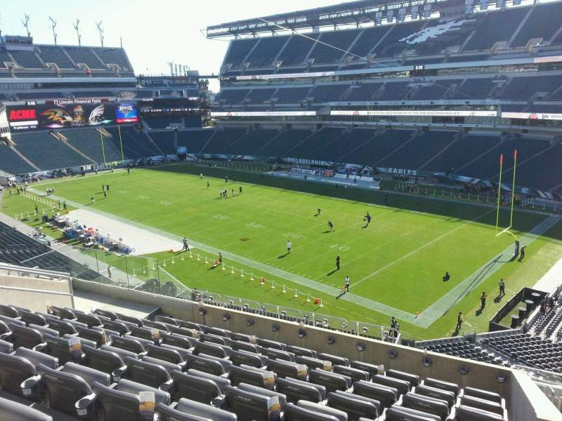 Seating view for Lincoln Financial Field Section c27 Row 14 Seat 12