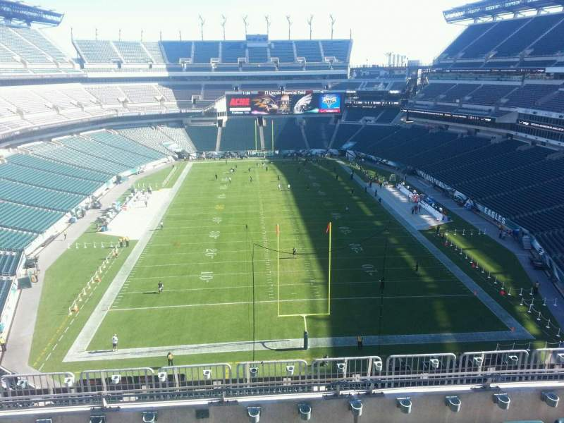 Seating view for Lincoln Financial Field Section 235 Row 9 Seat 10