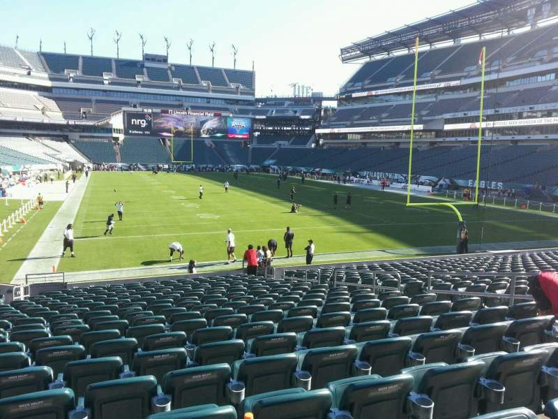 Seating view for Lincoln Financial Field Section 128 Row 19 Seat 10