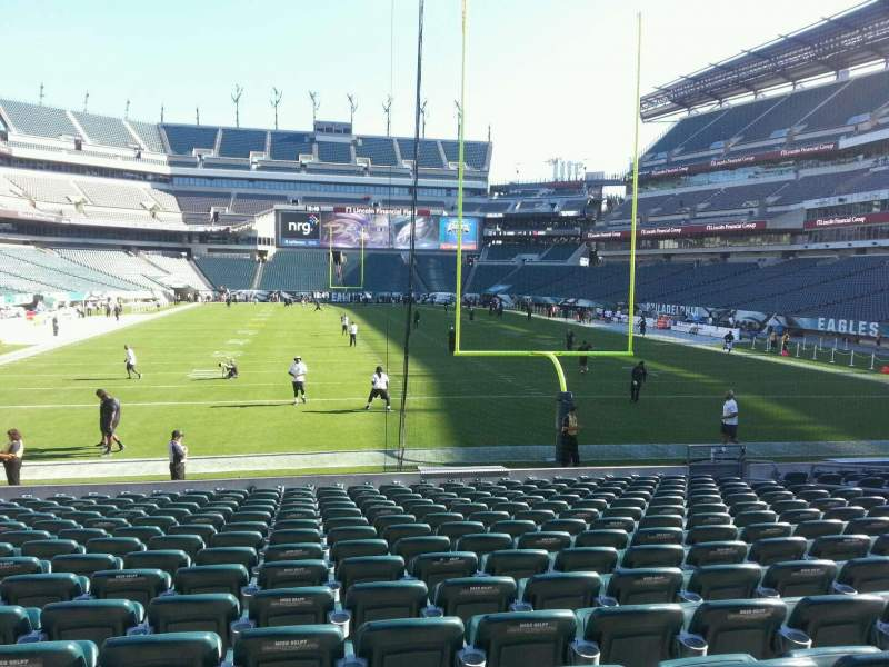 Seating view for Lincoln Financial Field Section 129 Row 15 Seat 15