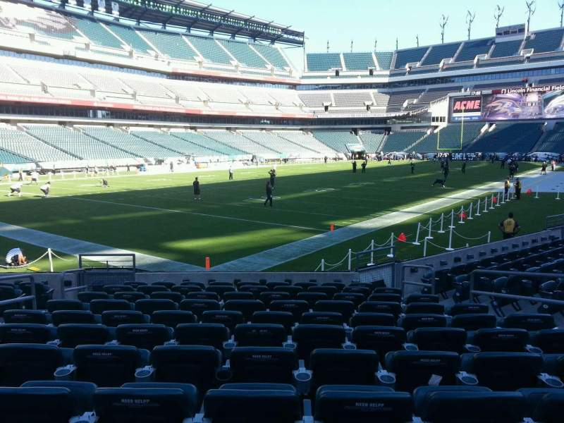 Seating view for Lincoln Financial Field Section 133 Row 11 Seat 9