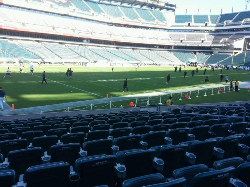 Seating view for Lincoln Financial Field Section 134 Row 11 Seat 10