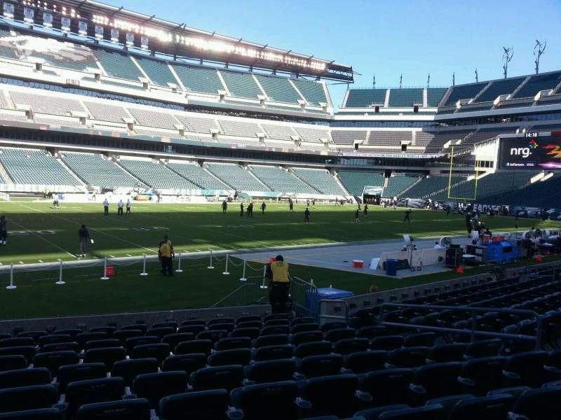 Seating view for Lincoln Financial Field Section 136 Row 11 Seat 10