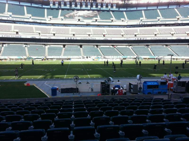 Seating view for Lincoln Financial Field Section 138 Row 11 Seat 10