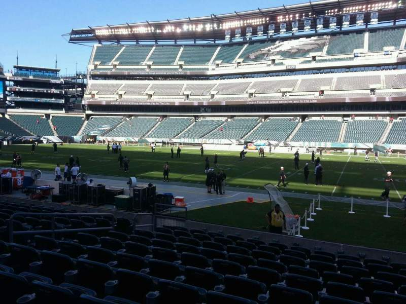 Seating view for Lincoln Financial Field Section 103 Row 11 Seat 9