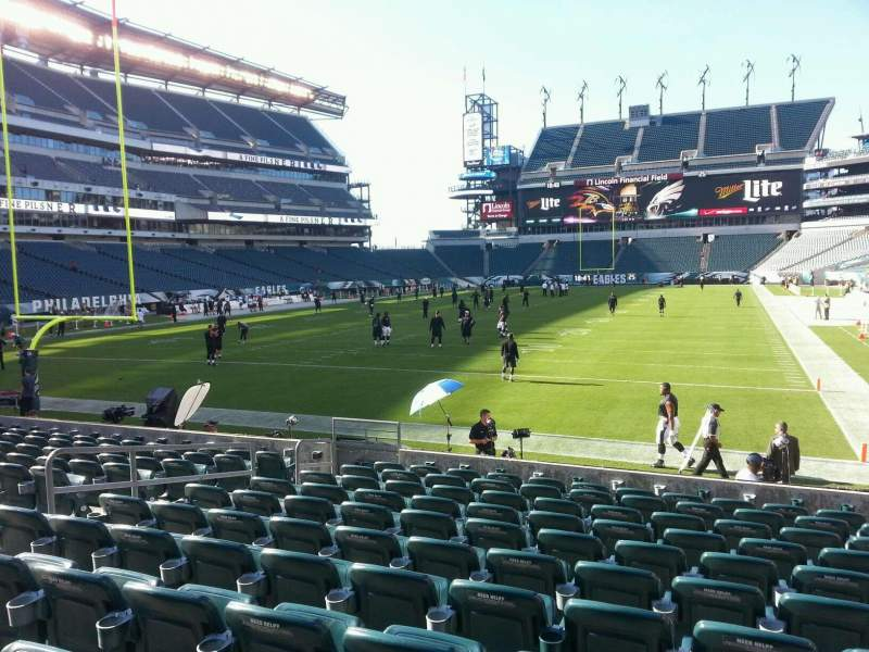 Seating view for Lincoln Financial Field Section 112 Row 10 Seat 9