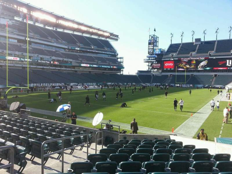 Seating view for Lincoln Financial Field Section 113 Row 11 Seat 7