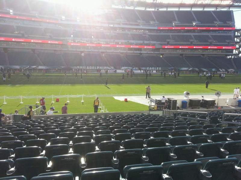 Seating view for Lincoln Financial Field Section 118 Row 15 Seat 11