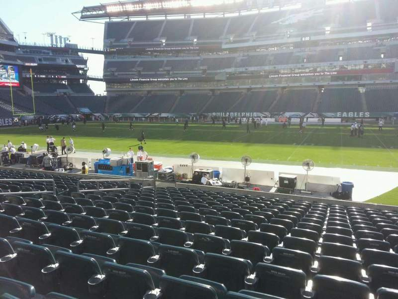 Seating view for Lincoln Financial Field Section 121 Row 15 Seat 12