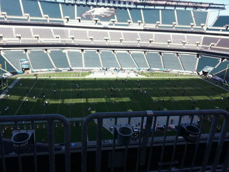 Seating view for Lincoln Financial Field Section 243 Row aca Seat 6