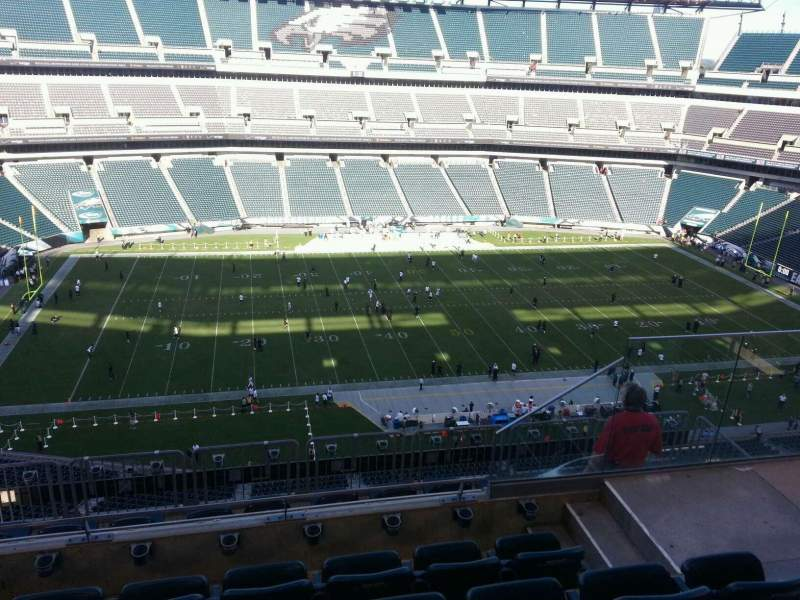 Seating view for Lincoln Financial Field Section 243 Row 9 Seat 5