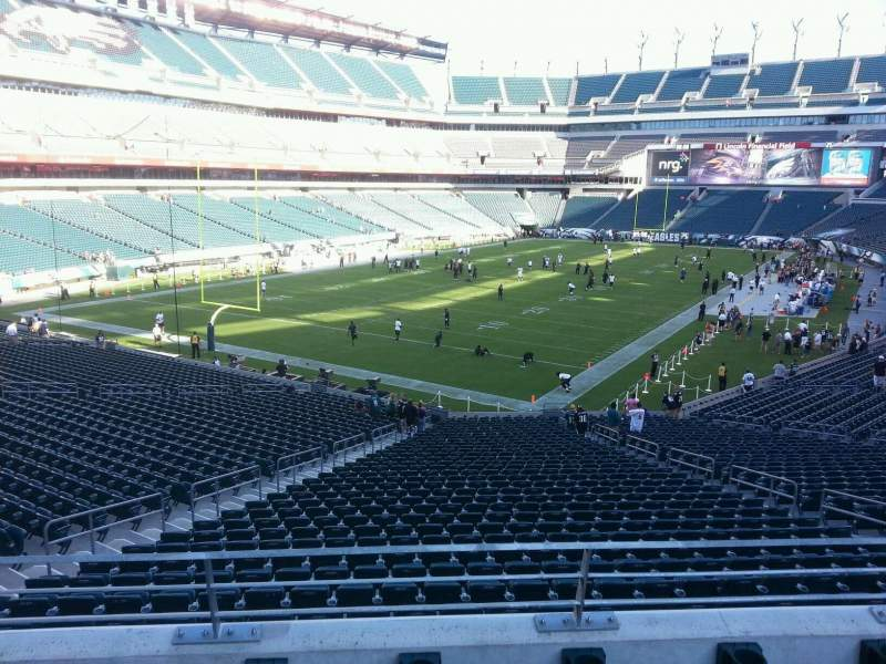 Seating view for Lincoln Financial Field Section 132 Row 37 Seat 10