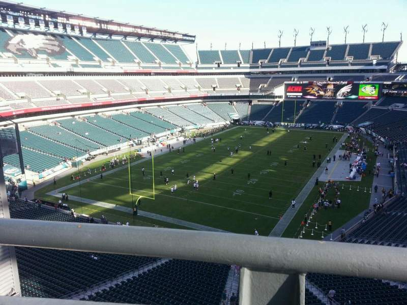 Lincoln Financial Field, section: Eagles nest