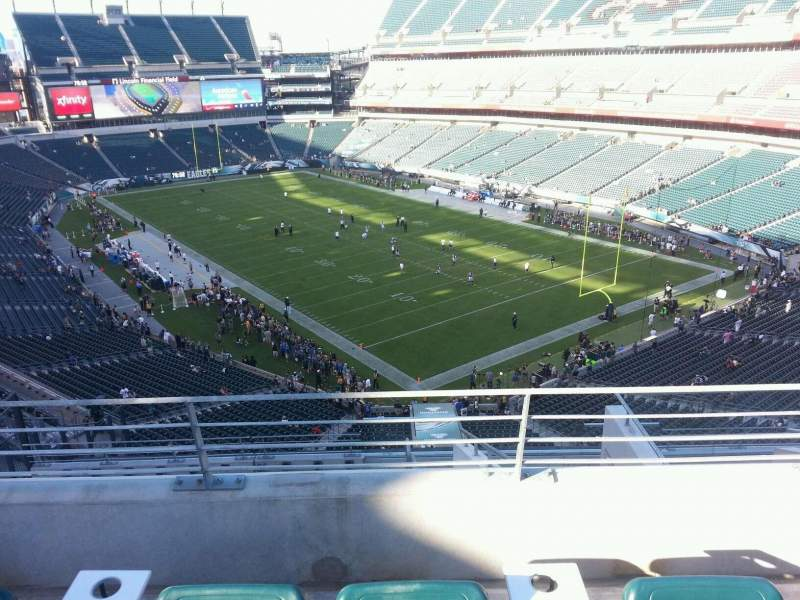 Seating view for Lincoln Financial Field Section Miller Light Phlight Deck