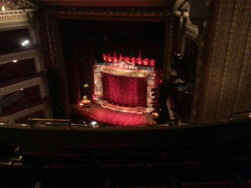 Seating view for PrivateBank Theatre Section Balc-R Row F Seat 12