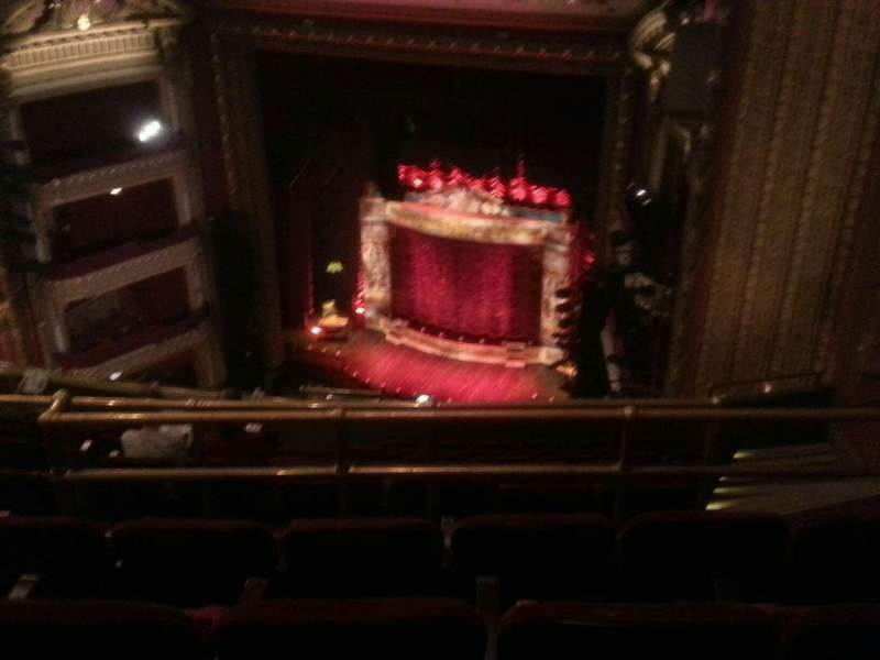 Seating view for PrivateBank Theatre Section Balcony R Row L Seat 12