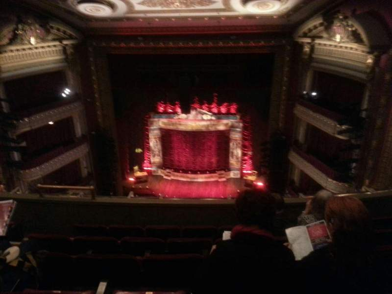 Seating view for PrivateBank Theatre Section balc Row f Seat 410