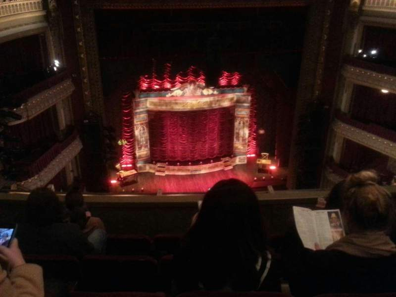Seating view for PrivateBank Theatre Section balc Row e Seat 415