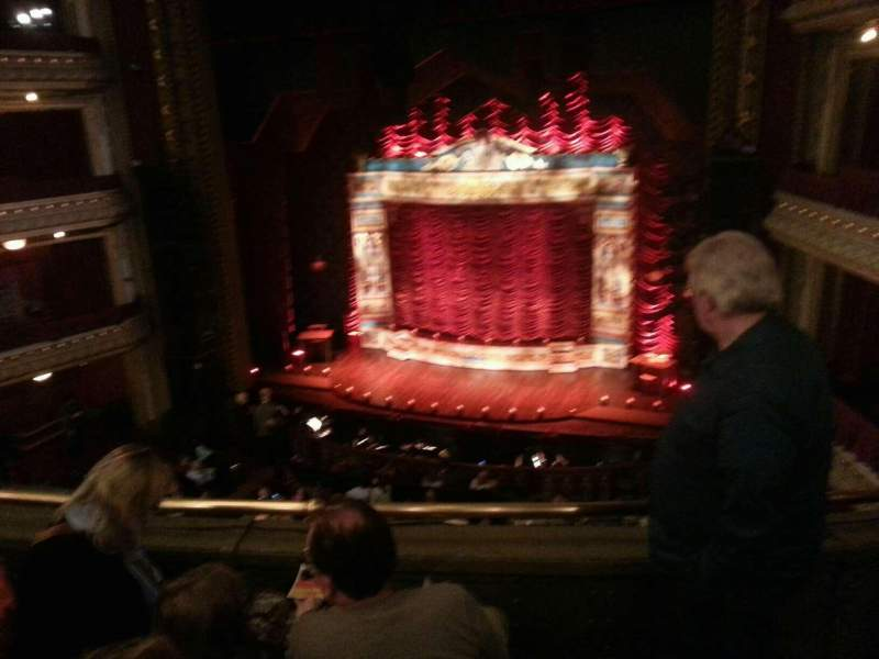 Seating view for PrivateBank Theatre Section Mezzanine RC Row c Seat 322
