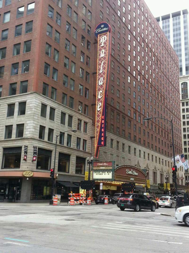 Seating view for Cadillac Palace Theater Section outside