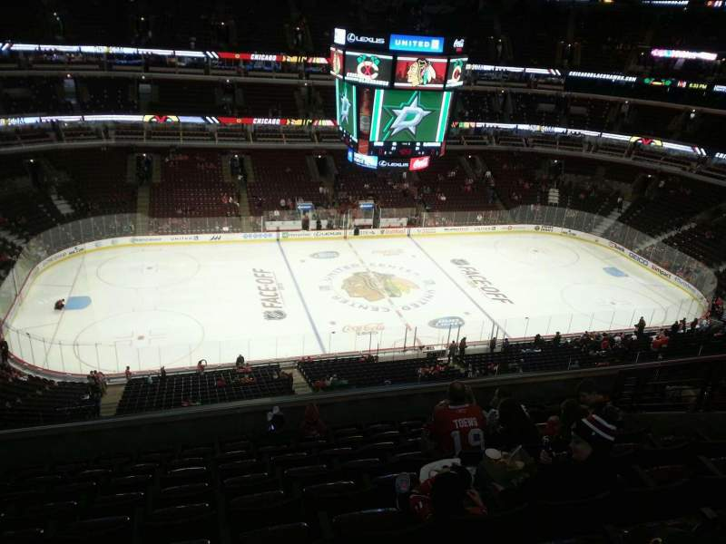 Seating view for United Center Section 319 Row 10 Seat 9