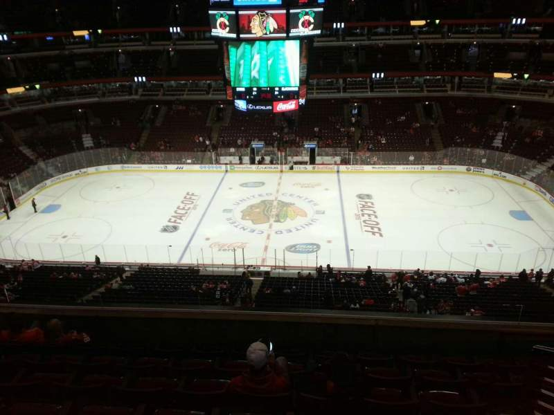 Seating view for United Center Section 317 Row 7 Seat 9