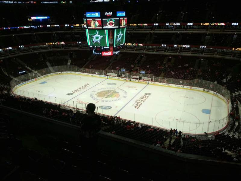 Seating view for United Center Section 315 Row 7 Seat 8