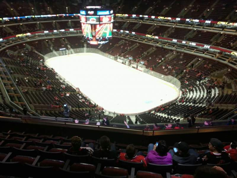 Seating view for United Center Section 312 Row 14 Seat 12