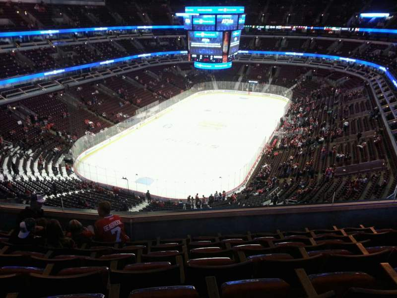 Seating view for United Center Section 307 Row 6 Seat 5