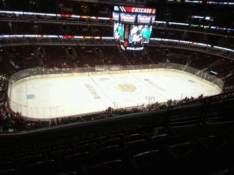 Seating view for United Center Section 303 Row 8 Seat 6