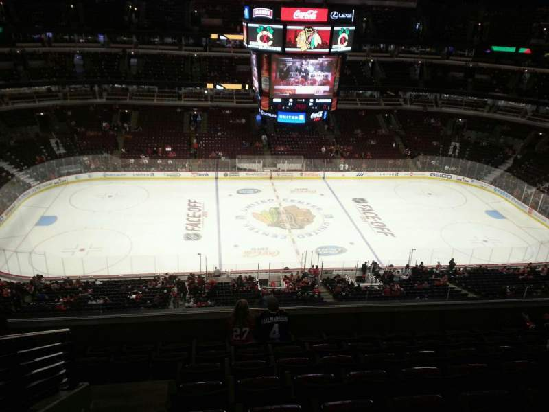 Seating view for United Center Section 301 Row 8 Seat 14