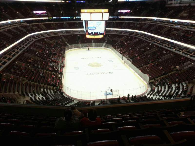 Seating view for United Center Section 327 Row 10 Seat 9